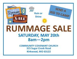 Rummage Sale sign